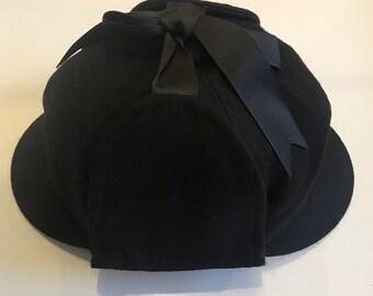 54df55fe844 Sherlock Holmes hat- Deerstalker cap black