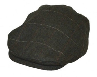 b3757d4a Flat cap hat wool checked design classic style