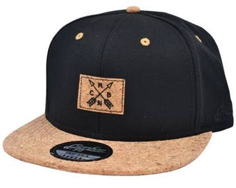 dc3bccabf1556 Cork peak Snapback caps adjustable size fits kids and adults- wood style  peak cork hat