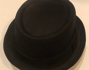 2c38c28ff29 Pork pie hat cotton crushable unisex black colour porkpie hat