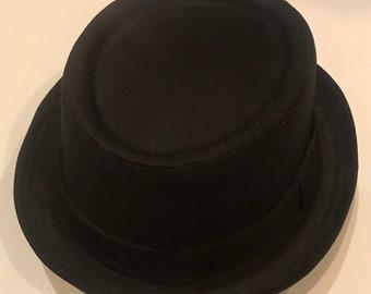 Pork pie hat cotton crushable unisex black colour porkpie hat 78b324e7d675