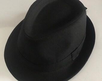 a203786140673 Trilby hat crushable unisex- black