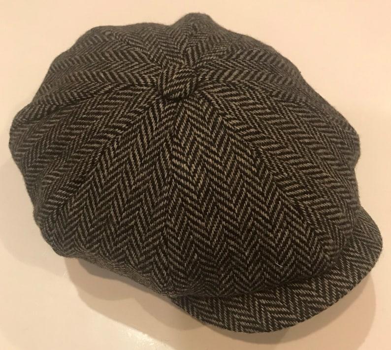 e2efeab1444 Peaky blinder herringbone style hat 8 panel style bakerboy