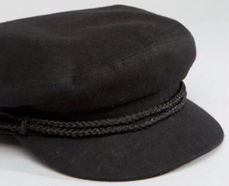 Fiddler cap Greek fisherman hat Breton style made of cotton  6ad9d7442814