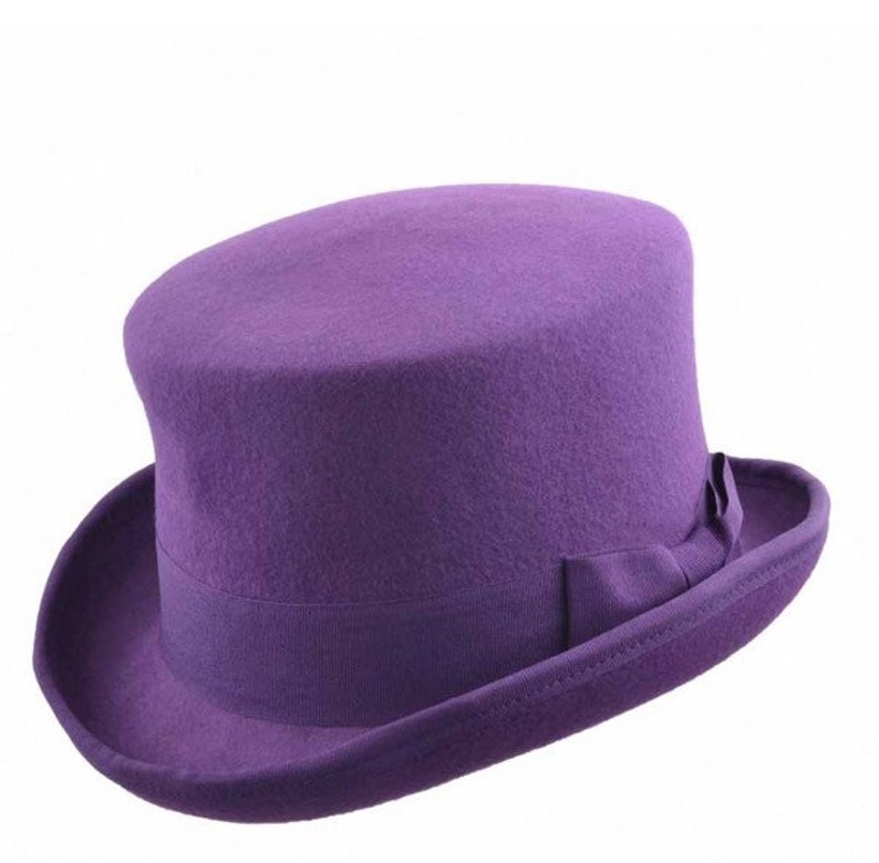 9b83f60140b Soft Wool Felt Top Hat with adjustable inner strong to for all