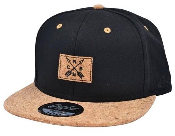 Cork peak Snapback caps adjustable size fits kids and adults- wood style  peak cork hat