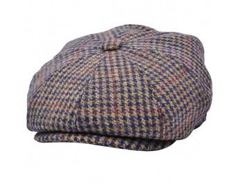 Peaky blinder hat G&h Herringbone Newsboy Cap with Tweed Newsboy Cap - Brown
