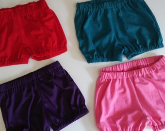 bloomers,cotton lycra, solid colors