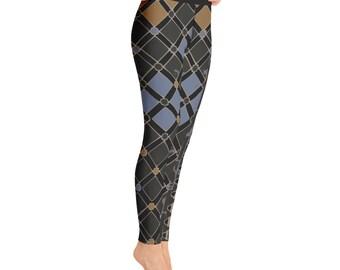 cfc74b487e161 Checkered Leggings, Checkerboard Leggings, Checkered Pants, Summer Leggings,  Yoga Leggings
