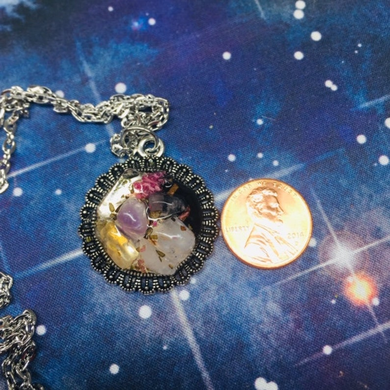 Twin Flame Attraction Amulet,- twin journey, witchcraft, talisman,  crystals, Reiki, blessed, moonlight, gemstones, rose quartz, amethyst,