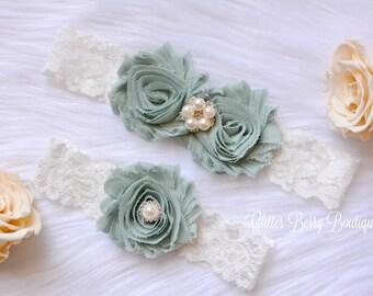 sage wedding garter, sage bridal garter, wedding garter, wedding garter, bridal garter for wedding, sage wedding garter