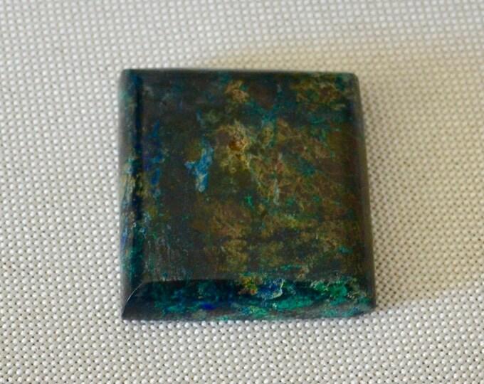 Chrysocolla cabochon, square cabochon, polished Chrysocolla , large gemstone, meditation stone, reiki crystal, healing crystal