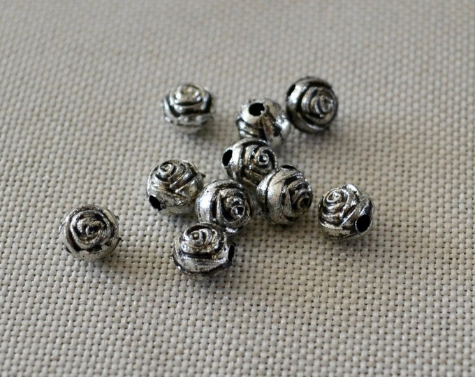 Jewelry spacers, silver beads, jewelry making beads, beads for bracelet, jewelry findings, craft supplies beads, jewelry components, beads