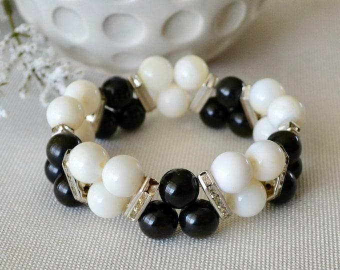Rainbow obsidian, obsidian bracelet, shell bracelet, chakra bracelet, reiki energy, statement bracelet, bohemian bracelet, reiki bracelet