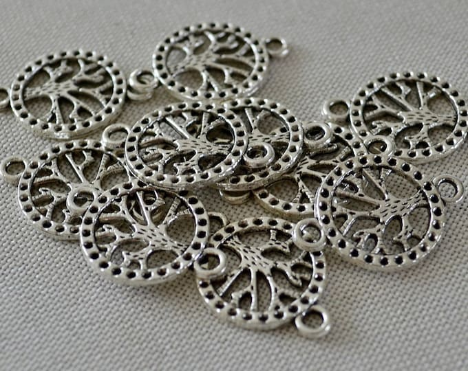 Jewelry connectors, tree of life connectors, jewelry making beads, beads for bracelet, jewelry findings, craft supplies beads, diy bracelet