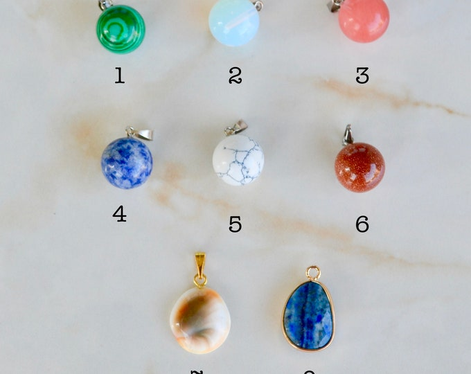 Adds on, add a charm, Crystal charms, custom charm, gemstone pendant, jewelry findings, jewelry components