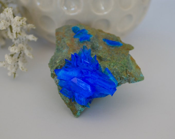 Chalcanthite, rough stone, healing stone, healing stones and crystal, rare minerals, rare crystals, copper sulfate mineral