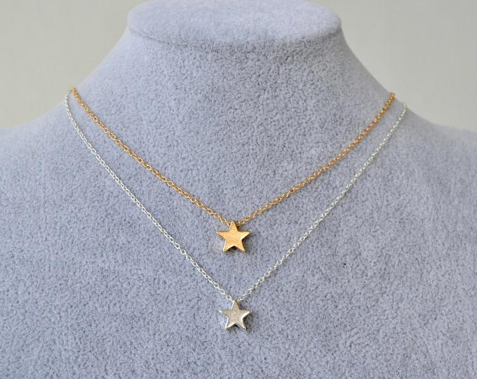 Dainty gold choker, dainty silver choker, stars silver choker, stars gold choker, charm choker, simple necklace, delicate necklace