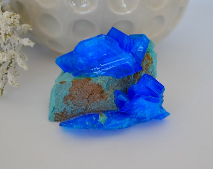 Chalcanthite, rough specimen, healing stone, healing stones and crystal, rare minerals, rare crystals, copper sulfate mineral