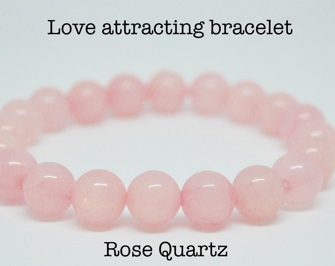 Rose Quartz Bracelet , rose quartz for girls, pregnancy gift, love attracting, heart chakra bracelet, fertility bracelet, IVF support