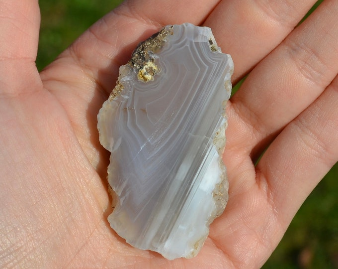 Blue lace agate slice from Bulgaria - lace agate crystal - grade AA agate slice - crystal specimen - crystal specimen - lace agate stone