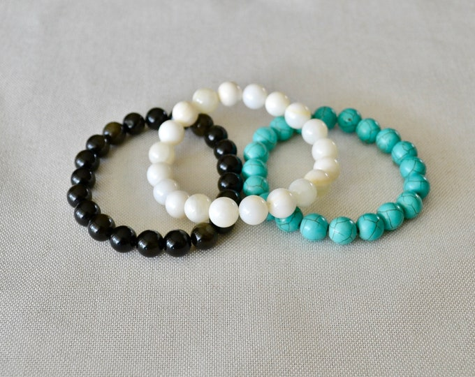 STRESS RELIEF bracelets set, anxiety and stress relief crystals, helping crystals, stress reducing crystals, stress relief bracelets