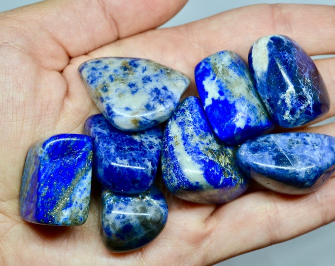 Lapis lazuli stone, tumbled stone, large gemstone, tumbled lapis lazuli, healing crystal, grounding stone, chakra altar