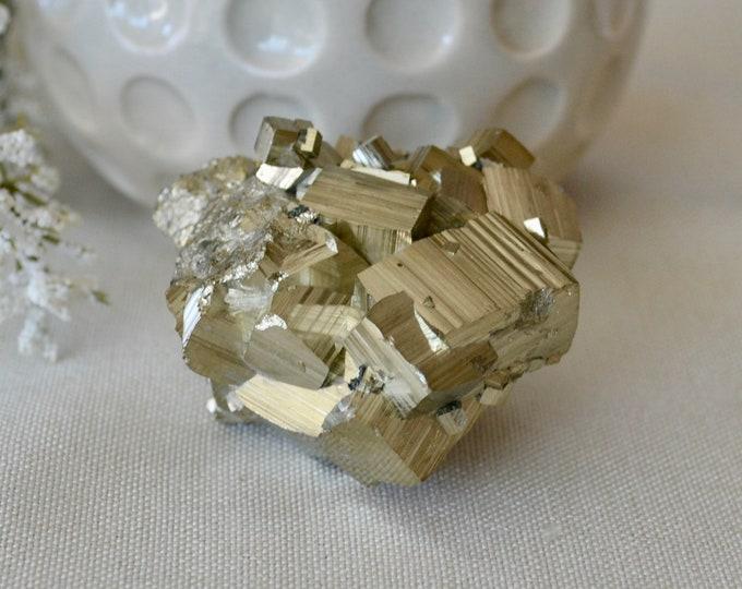 Pyrite from Bulgaria - pyrite stone - pyrite mineral - crystal specimen - fool's gold - rare minerals - rare stones