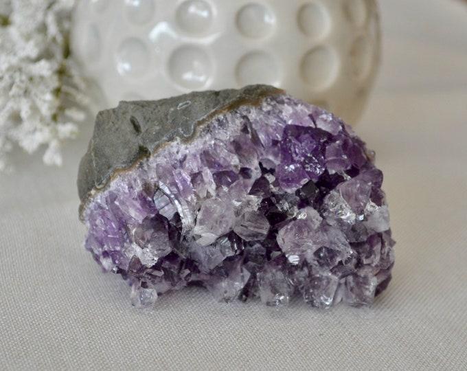 Amethyst quartz from Brazil, amethyst geode, raw amethyst quartz,  raw stone, healing crystal, mineral specimen, amethyst cluster
