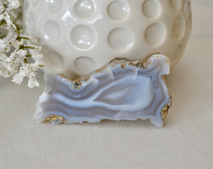 Blue lace agate slice from Bulgaria - lace agate crystal - grade AAA agate slice - crystal specimen - crystal specimen - lace agate stone