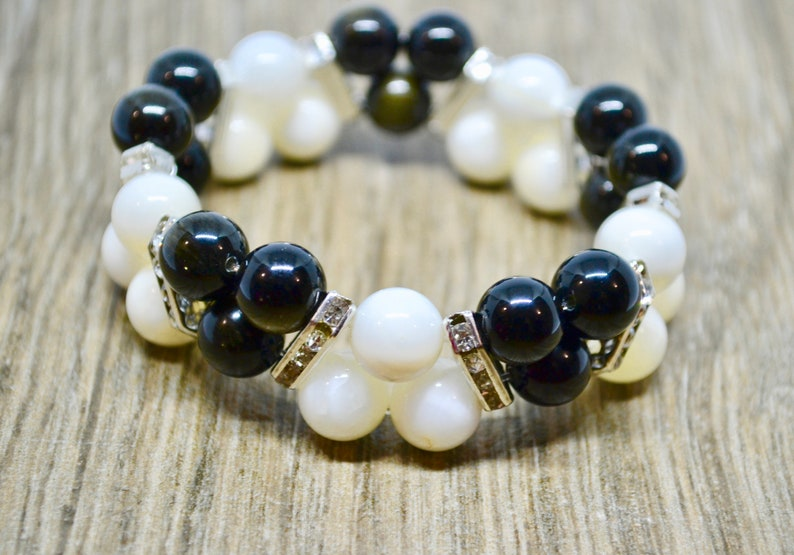 bohemian bracelet obsidian bracelet Rainbow obsidian reiki energy chakra bracelet statement bracelet shell bracelet reiki bracelet