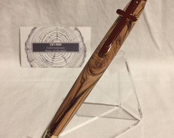 Modified slimline pen from Bethlehem olive wood