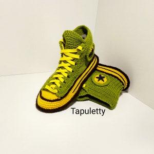Haus Schuhe FrauenHäkeln Converse Stiefel Gestrickte Geschenk für Freundin