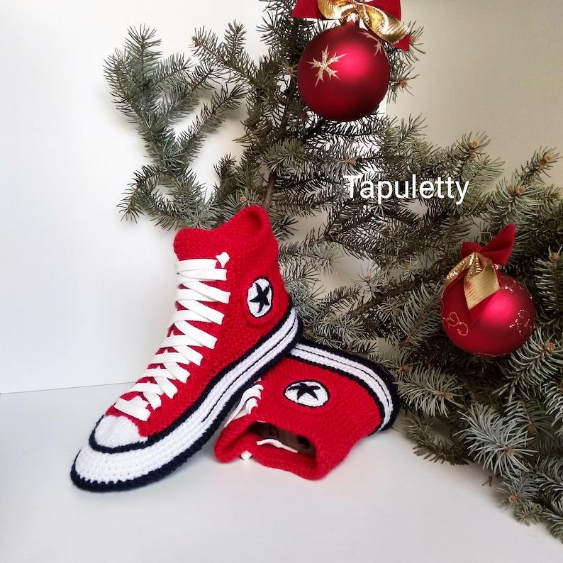 Strick Konverse Hausschuhe39 Rote Hausschuhe Frauen Knitted Konverse Sneakers Socken mit Sohle House Schuhe Athletic Hausschuhe Rote Konvers Stiefel