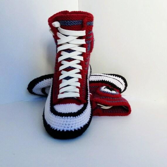 d38895c74e3d Knitted Converse  38 Women s knitted slippers Crochet