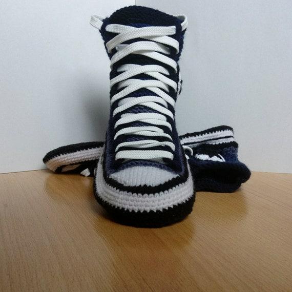 fe0ed3178a05 Crochet Crochet Gift Slippers Converse Converse Converse Shoe Knitted  wEqxOU0n1x