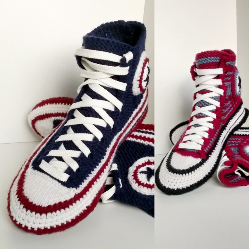 527fdf8e1c7ded Knitted Converse boots Crochet converse Knitted converse
