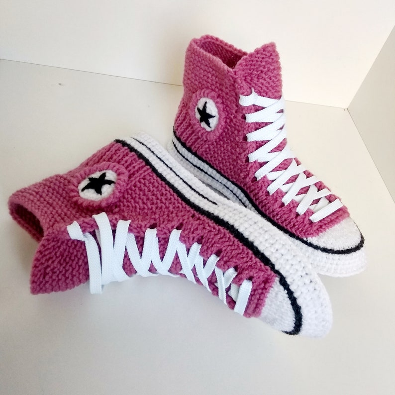 Converse Knitted Pink Women's Slippers | Etsy