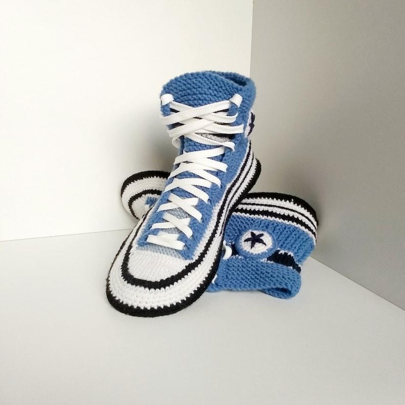 70df25e97aa9 Men s knitted house slippers Men s crochet house shoes