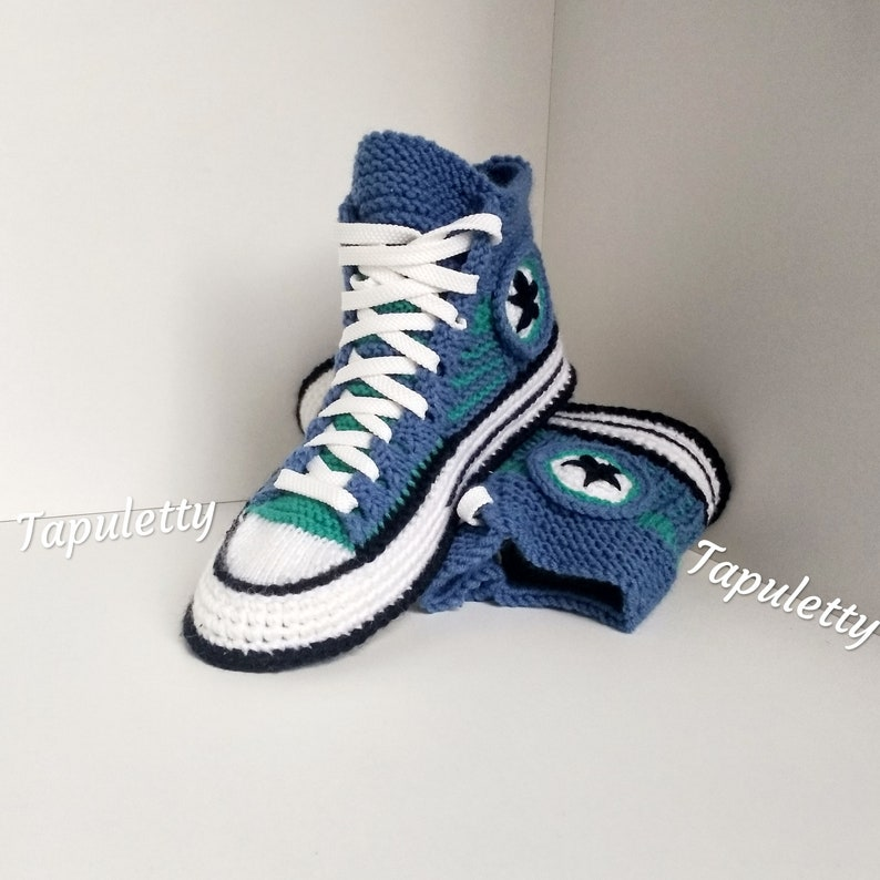 edbb7905a58b Knitted converse boots 39 Women socks slippers Crochet