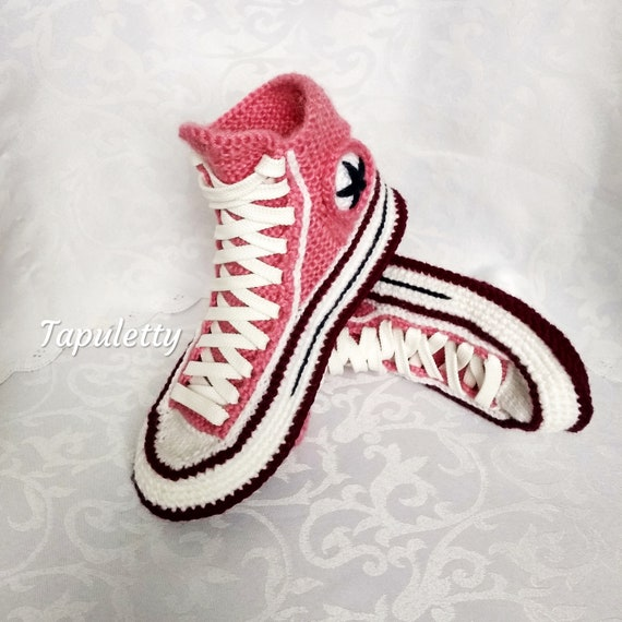 928824de860c65 Knitted Converse slippers Knitted house slippers women