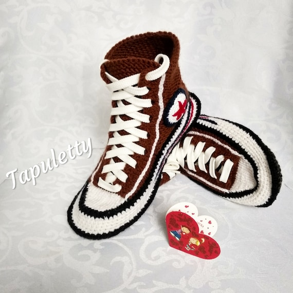 468a05c52755eb Knitted converse Socks with sole House knitted slippers