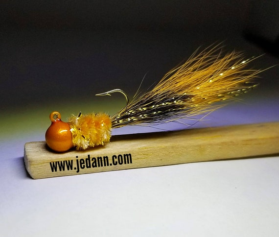3-Pack Black Squirrel Hair Jig Crappie Bluegill Bass Trout