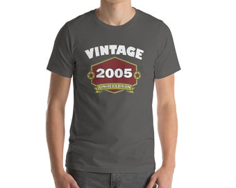 Vintage 2005 - 13th Birthday Gift - Teenager Gifts - Teenager Presents - 2005 Birth Year - 13 Years Old