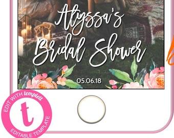 Bridal Shower Snapchat, Geofilter Wedding, Editable Snapchat Geofilter, Snapchat Filter, Wedding Geofilter, Wedding Filter,Snap Chat ,