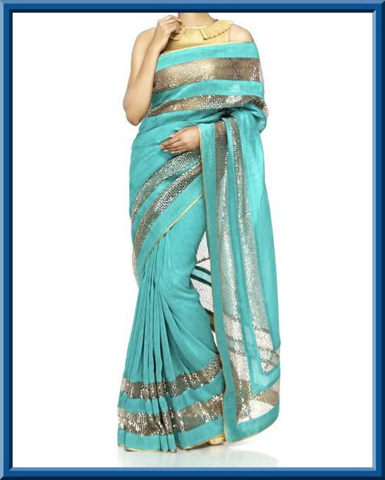 a21d9b1c6bc93 Light Blue Saree Blouses ✓ Labzada Blouse