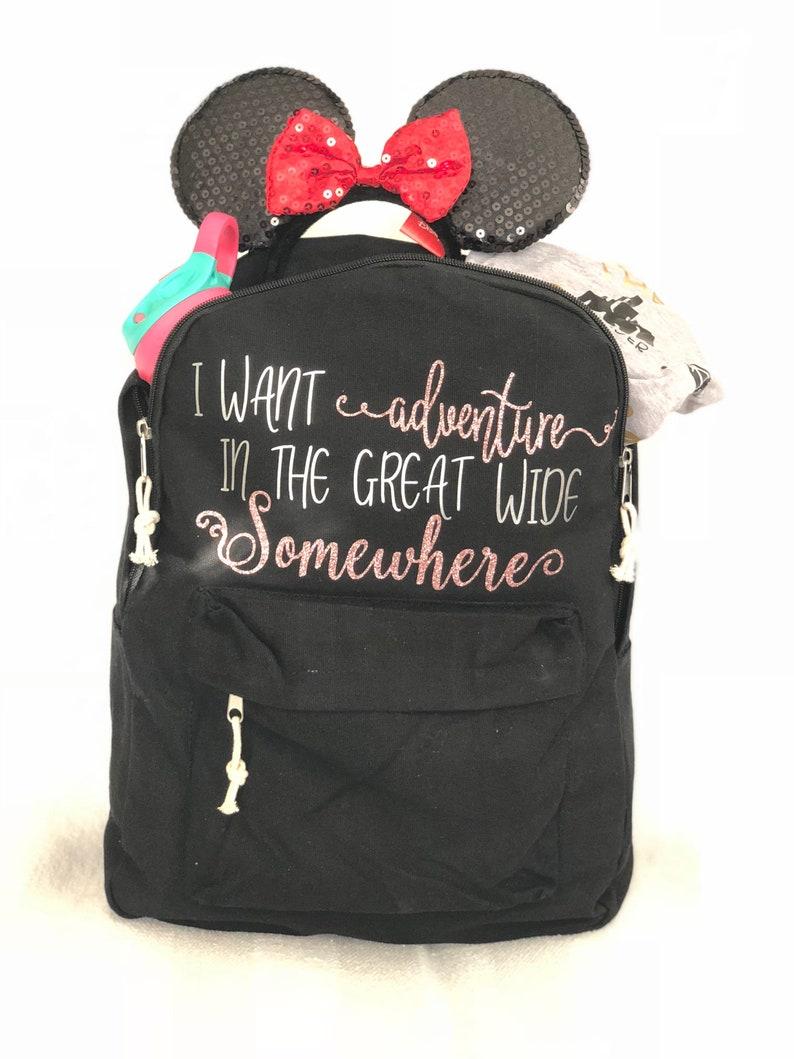 68206e89562 Disney backpack Rose gold disney bag back to school beauty