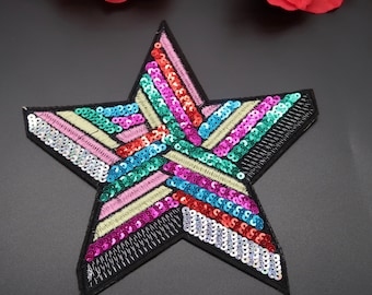 214 LAVENDER PURPLE 1 inch iron on star patch applique patches embellishment