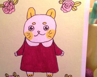 Bright, Bushy Kitty - 5 x 7 print