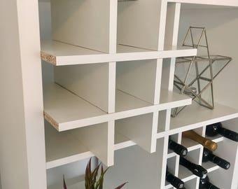 2 x Wine Rack Inserts For Ikea Kallax / Expedit Storage Unit Bottle Holder Hack White & Wine Rack Insert For Ikea Kallax / Expedit Storage Unit Bottle | Etsy